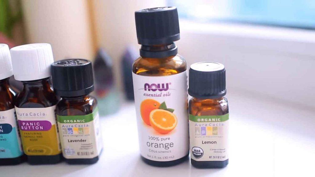 эфирные масла чайного дерева, апельсина, лаванды