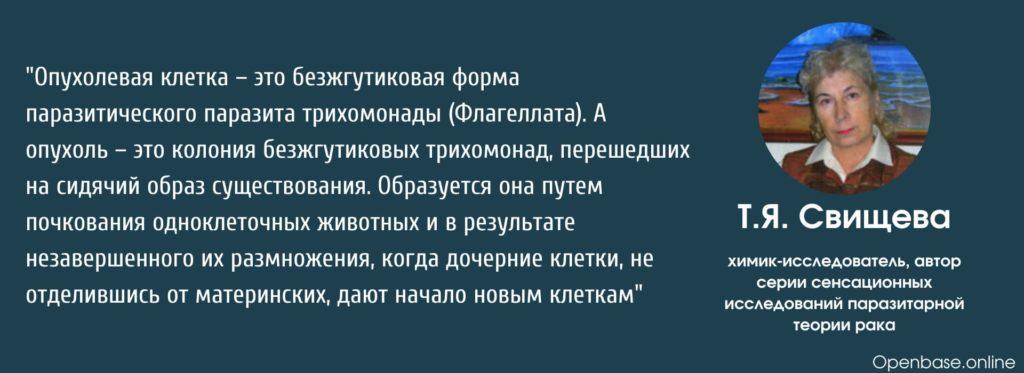 Тамара Свищева Тихомонада это рак
